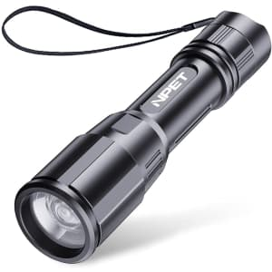 Npet P3 Tactical Rechargeable Flashlight for $12