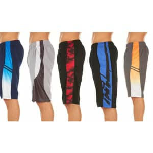 Men's Athletic Performance Shorts 5-Pack for $24