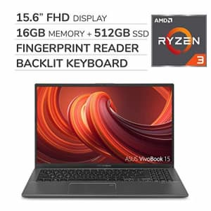 ASUS VivoBook 2019 Premium 15.6 FHD Laptop Notebook Computer, 4-Core AMD Ryzen 3 3200U 2.6GHz, 16GB for $669