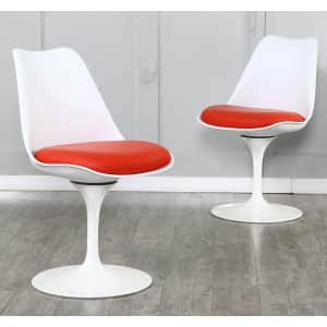 Bacyion Modern Swivel Dining Chair 2-Pack for $68