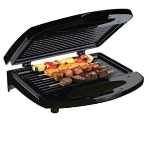 Chefman Electric Contact Grill Griddle, Indoor Dual Closed Sandwich Maker with Nonstick Plates & for $30
