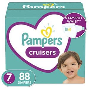 Diapers Size 7, 88 Count - Pampers Cruisers Disposable Baby Diapers, ONE MONTH SUPPLY (Packaging for $62