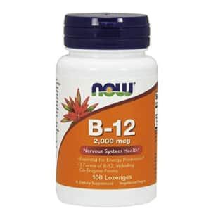 Now Foods NOW Supplements, B-12 2,000 mcg, Energy Production*, Nervous System Health*, 100 Lozenges for $10