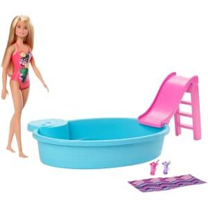 Mattel Barbie Pool 6-Piece Playset for $13