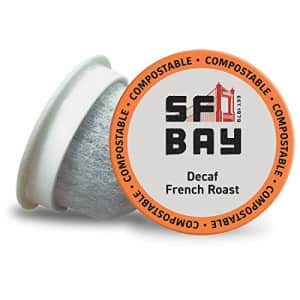 SF Bay Coffee DECAF French Roast 12 Ct Swiss Water Processed Dark Roast Compostable Coffee Pods, K for $14