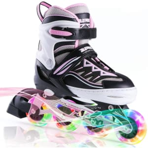 2PM Sports Light-Up Adjustable In-Line Skates for $34