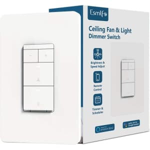 Esmlfe Smart Ceiling Fan and Light Dimmer Switch for $43