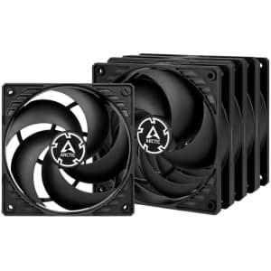 Arctic Pressure-Optimized 120 mm Case Fans 5-pack for $31