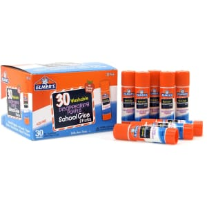 Elmer's Disappearing Purple Glue Stick 30-Pack for $7