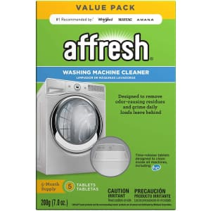 Affresh Washing Machine Cleaner 5-Count Tablets for $10