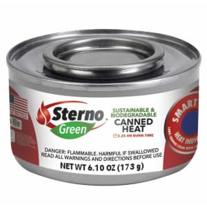 Sterno Green 6.1-oz. Canned Heat 6-Pack for $18