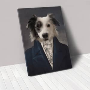 """Crown & Paw The Aristocrat 8"""" x 10"""" Custom Pet Canvas for $50"""