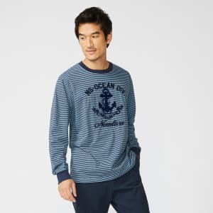 Nautica Men's Anchor Graphic Long-Sleeve T-Shirt for $15
