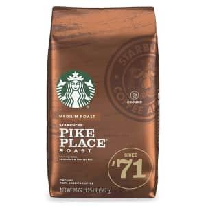 Starbucks Pike Place Roast 20-oz. Ground Coffee for $26