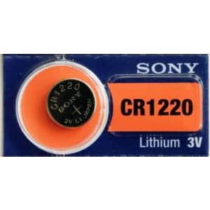 Sony Lithium 3V Batteries Size CR1220 (Pack of 5) for $7