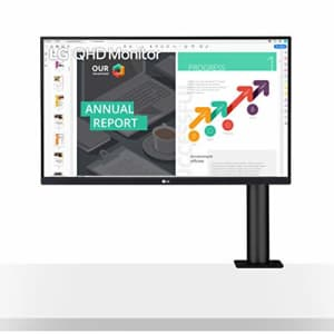 LG 27QN880-B 27 QHD (2560 x 1440) IPS Monitor with Ergo Stand and HDR 10 Compatibility and USB for $347