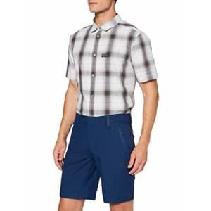 Jack Wolfskin Men's Active Track Men's Soft Shell Hiking Shorts 100% PFC Free, dark indigo, 54 (U for $47