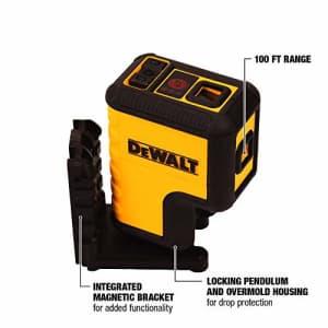 DEWALT DW08302 Red 3 Spot Laser Level for $98