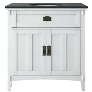 """Home Decorators Collection Artisan 33"""" Vanity w/ Marble Top for $325"""