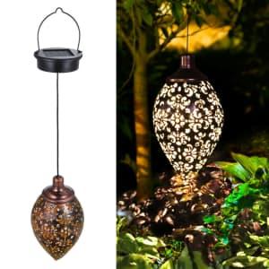 Tomshine Solar LED Outdoor Hanging Lantern Light for $15