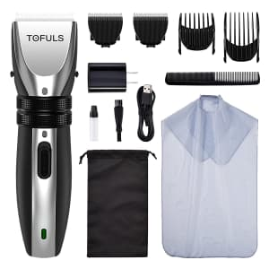 Tofuls Men's Cordless Hair Clippers Kit for $15