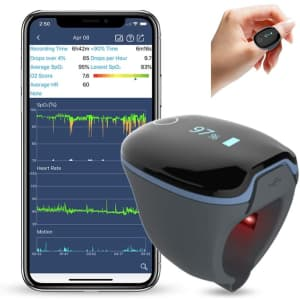 Wellue O2Ring Wearable Sleep Monitor and Health Tracker for $98