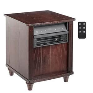 Amazon Basics Cabinet Style Space Heater, Brown Wood Grain Finish, 1500W for $105