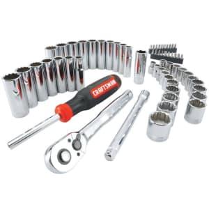 "Craftsman 61-Piece SAE and Metric 3/8"" Mechanics Tool Set for $40"