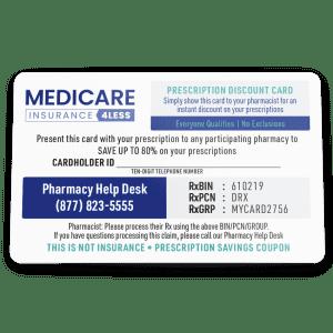Medicare Insurance 4 Less: Get a free Prescription Discount Card w/ quote