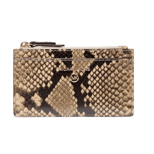 Michael Michael Kors Small Snake Embossed Leather Card Case for $51