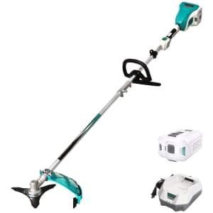"""Enegitech 58V 10"""" Brush Cutter Kit for $125 in cart"""