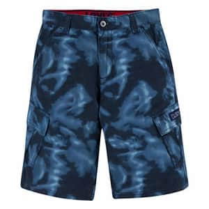 Levi's Boys' Cargo Shorts, Tie Dye Blue, 8 for $13