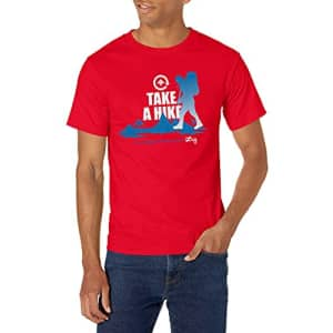 LRG Lifted Research Group Men's Graphic Design Logo T-Shirt, RED Cycle, XL for $19