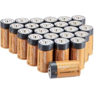 AmazonBasics C Cell Alkaline Battery 24-Pack for $17