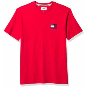 Tommy Hilfiger Men's Tommy Jeans Graphic T Shirt, Blush RED AA 106-880, LG for $37