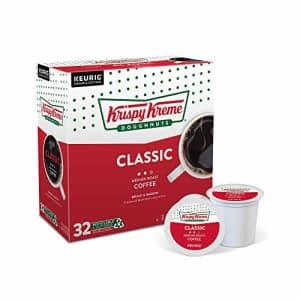 Krispy Kreme Classic, Single-Serve Keurig K-Cup Pods, Medium Roast Coffee, 32 Count for $24