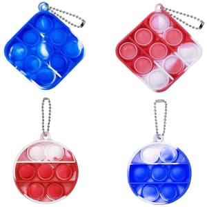 Ephiioniy Simple Dimple Fidget Keychain Toys 4-Pack for $6