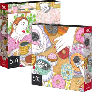 SpinMaster 500-Piece Jigsaw Puzzle 2-Pack for $6