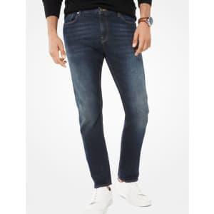 Michael Kors Men's Parker Slim-Fit Selvedge Jeans for $98