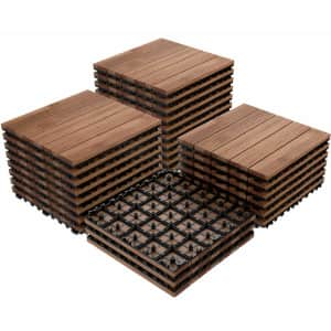 Yaheetech Outdoor Tiles 27-Pack for $90