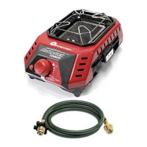 Mr. Heater MH8CFLEX 8,000 BTU Buddy FLEX Cooker with 10-Feet Propane Hose Bundle (2 Items) for $120