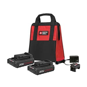 PORTER-CABLE 20V MAX Compact Accessory Combo Kit, 2 Batteries (PCCK888LB) for $120