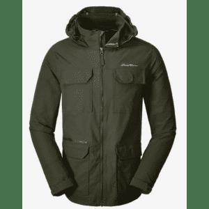 Eddie Bauer Men's Atlas Stretch Hooded Jacket for $60