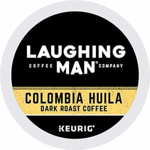 Laughing Man Columbia Huila, Single-Serve Keurig K-Cup Pods, Dark Roast Coffee, 60 Count for $41
