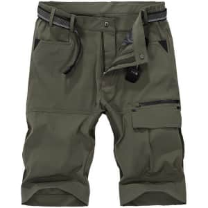 Vcansion Men's Quick Dry Hiking Shorts for $18