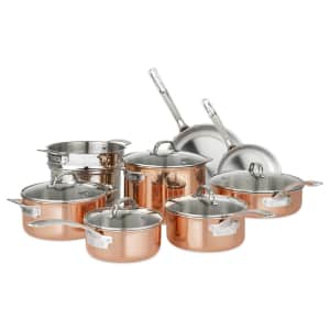 Viking 13-Piece Tri-Ply Copper Cookware Set for $250 for members