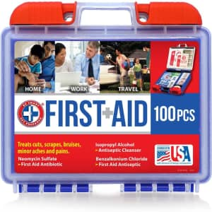 Be Smart Get Prepared 100-Piece First Aid Kit for $9