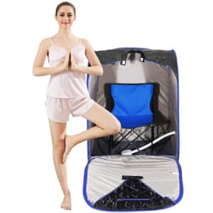 Homdox Single Person Portable Traditional Steam Sauna for $120