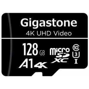 Gigastone 128GB Micro SD Card, 4K UHD Video, Surveillance Security Cam Action Camera Drone for $17