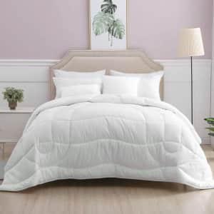 Oaken-Cat Reversible Down Alternative Queen Comforter for $25